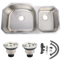 undermount stainless steel big double bowl kitchen sink