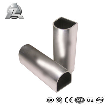 Modernes, haltbares 6063 China-Aluminiumprofil, halbrund