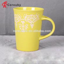 Tasse à café en vrac à grès émaillé pleine qualité 11oz