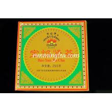"""2008 Xiaguan FT """"Bao Yan Marke"""" Pilz Raw Pu Er Puer Tuo-Quadrat-Box 250g / Tuo"""