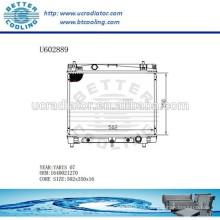Radiador de aluminio para TOYOTA YARIS 07 1640021270 Fabricante y venta directa