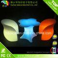 Table basse LED Table en verre en plastique illuminée