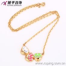 42163 dessins de collier en or à la mode de 10 grammes 18k joli triangle petit diamant plaqué or collier de bijoux