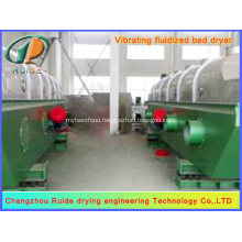 High capacity vibrating fluid bed dryer for seasoning