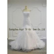 Elegante marfim comprimento total A linha Lace Plus Size casamento vestidos