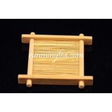 Saucer de chá de bambu feito à mão