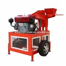 Máquina de fabricación de bloques de ladrillo de la máquina de producción de pequeña escala del motor diesel FL1-20