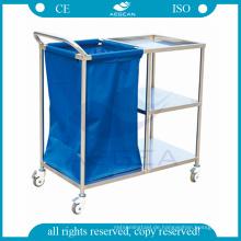 AG-SS010A genehmigt drei Schichten Stahl Instrument Krankenhauspflege klinischen Wagen