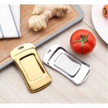 multi-function flat bottom stainless steel ginger slicer grater