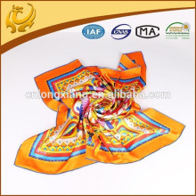 ODM Custom Real Material Casual Twill Silk Scarves 90x90cm