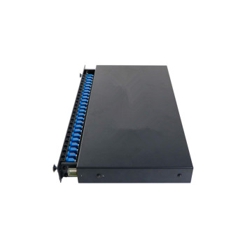 24 LC Din Rail Fiber Patch Panel