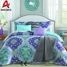 Горячая распродажа стиль мода микрофибры одеяло комплект 7pc высоко качества линга набор одеяло Размер