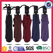 Promotional Samll Pocket Ultra Light Aluminum Super Strong Windproof Auto Open and Closed 3 Fold Umbrella