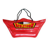 Customized Red Clear Pvc Bags With Handle For Women