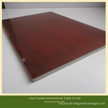 Melamin MDF Board für Möbel und Dekoration mit konkurrenzfähigem Preis
