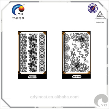 Factory supply OEM waterproof white lace designs temporary tattoo sticker for wedding decoration,bride white tattoo series