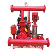 Ensemble de pompe à incendie de 500GPM 8bar, pompe à incendie, pompe à incendie diesel et électrique avec la pompe de jockey