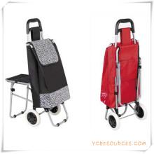 Bolso de la carretilla de las compras de dos ruedas con la silla para los regalos promocionales (HA82015)
