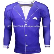 tuxedo printed funny cool compression wear rash guard