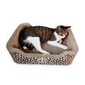 2018 Nouveau Chat Imprimé Animal Jouant Jouet Carton Chat Scratching Canapé SCS-7003