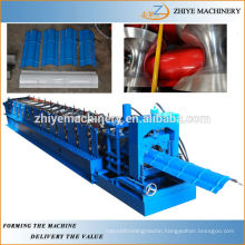 Galvanized Cold Steel Ridge Cap Roll Forming Machine Manufacturer