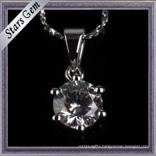 Simple and Fashion Style Synthetic Diamond Prong Setting Pendant Jewellery