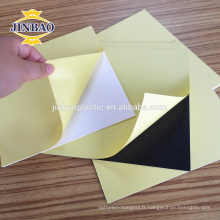 Feuille de mousse de matériel de PVC pour la fabrication d'album de photo / auto-adhésif blanc noir