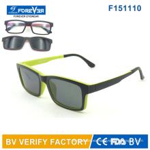 F151110 Nuevo diseño ultradelgado magnética gafas de sol y lector y vidrios ópticos