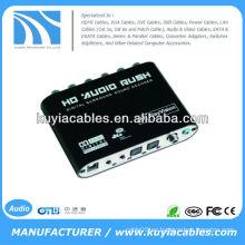 Digital Dolby DTS AC3 óptico a 5.1 Analog Audio Gear decodificador de sonido