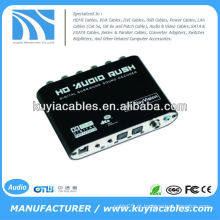 Digital Dolby DTS AC3 óptico para 5.1 Analog Audio Gear Sound Decoder