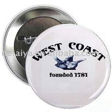 Black-White Pin bottom badge