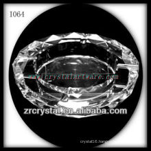 K9 Clear Crystal Ashtray with Round Shape
