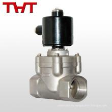 válvula solenoide de control de vapor de agua de acero inoxidable