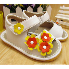 Three Small Flowers Baby Squeaky Sandals