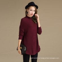 Rentable 30% cashmere70% lana merino cuello redondo de lana de cachemira suéter