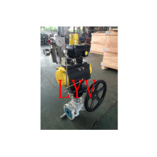 Pneumatic Cast Steel Flanged Ball Valve