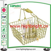 Cesta de mano de lujo de la cesta de compras del alambre de acero del color oro para los cosméticos