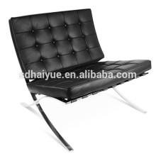 2017 crazy sales Barcelona chair style sillón de alta calidad en cuero negro