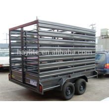 Galvanized livestock cattle trailer