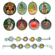 Indian Painting Anhänger Handgemalte Jewlery