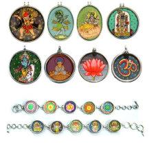 Индийский Ручная Роспись Окрашенные Кулон Ювелирные Изделия