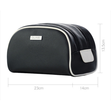 Uso diario Simplicity Leather Makeup Travel Bag para artículos de tocador