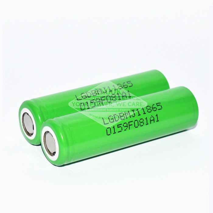 Groene LG MJ1 3500mAh 18650 batterij