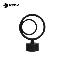 KYOK new designs cast metal double rod end finial