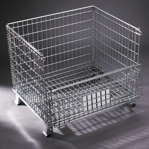 Foldable Galvanized Collapsible Wire Mesh Container