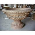 Stone Marble Flower Planter for Garden Decoration (QFP096)