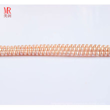 4-5mm Pink Freshwater Pearl Strand, Button Round (ES124)