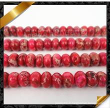 Red Emperor Gemstone Rondelle Bead, bijoux en perles de pierre (GB0110)