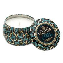 Vela de estaño de soja perfumada de lujo en caja de regalo