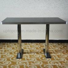 Mesa de restaurante quente com borda de metal (SP-RT479)